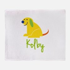 Kolby Loves Puppies Throw Blanket