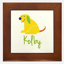 Kolby Loves Puppies Framed Tile