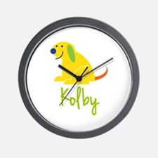 Kolby Loves Puppies Wall Clock