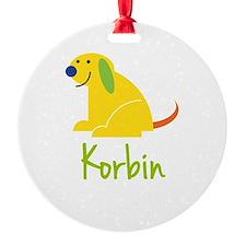 Korbin Loves Puppies Ornament