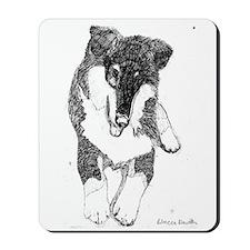 Tri Color Pup Mousepad