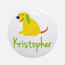 Kristopher Loves Puppies Ornament (Round)