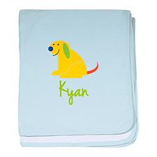 Kyan Loves Puppies baby blanket