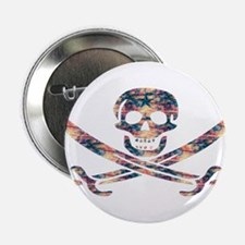 "Pirate Style Wooden Vol. 6 2.25"" Button"