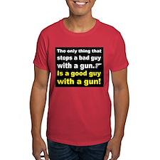 Good Guy with a gun dark T-Shirt