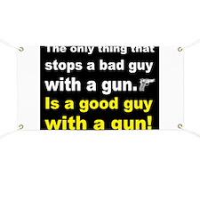 Good Guy with a gun dark Banner