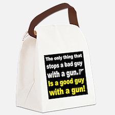 Good Guy with a gun dark Canvas Lunch Bag
