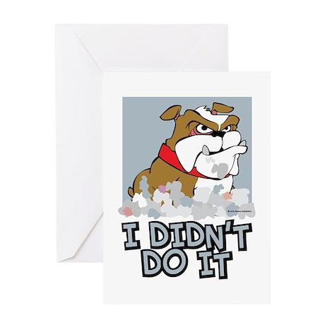Bulldog I Didnt Do It Greeting Card