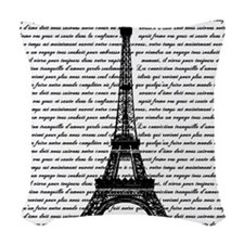 Vintage Eiffel Tower Woven Throw Pillow