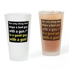 Good Guy with a gun dark Drinking Glass