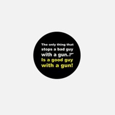 Good Guy with a gun dark button Mini Button