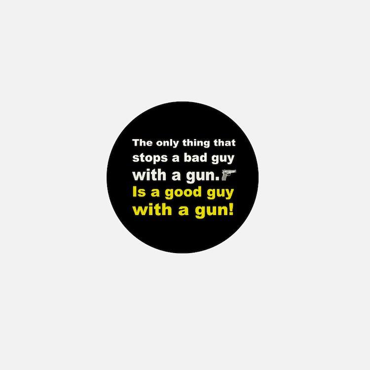 Good Guy with a gun dark button Mini Button