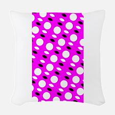 Pink Sequel Shapes Designer Woven Throw Pillow