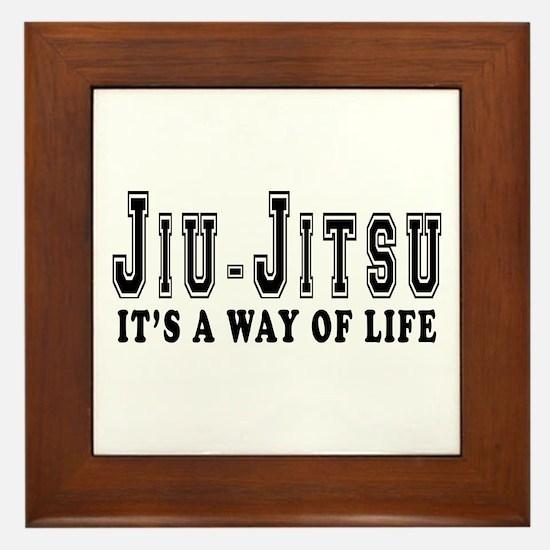 Jiu-Jitsu Is Life Framed Tile
