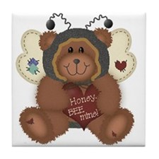 Be Mine Bear Tile Coaster