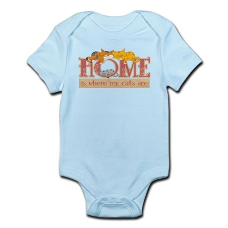Home Is Where My Cats Are Infant Bodysuit
