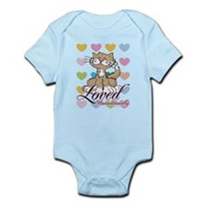 Loved Unconditionally Cat Infant Bodysuit
