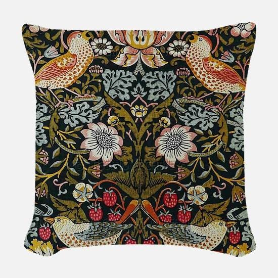 William Morris Strawberry Thief Woven Throw Pillow