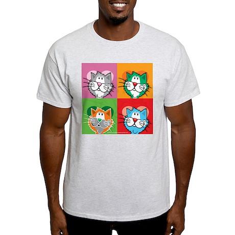 Pop Art Cat Light T-Shirt