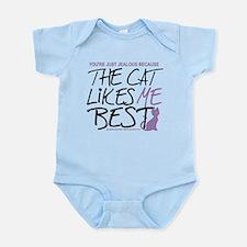 The Cat Likes Me Best Infant Bodysuit