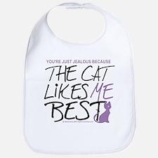 The Cat Likes Me Best Bib
