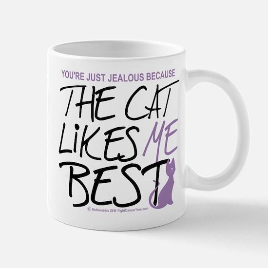 The Cat Likes Me Best Mug
