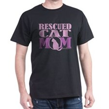 Rescued Cat Mom T-Shirt