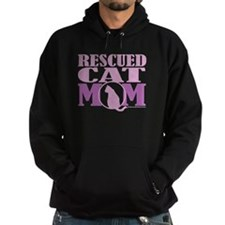 Rescued Cat Mom Hoodie