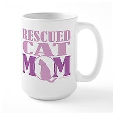 Rescued Cat Mom Mug