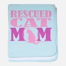 Rescued Cat Mom baby blanket