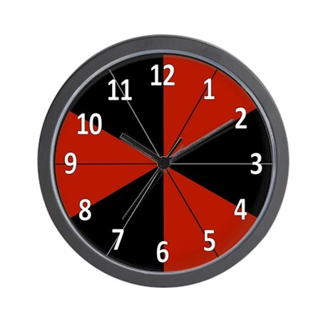 Black and red wall clock by jqdesigns for Red and black wall clock