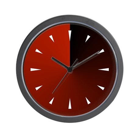 Black and red gradient wall clock by jqdesigns for Red and black wall clock