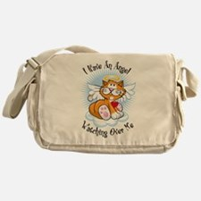 Angel Watching Over Me Orange Messenger Bag