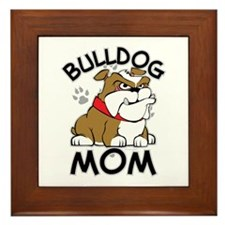 Bulldog Mom Framed Tile