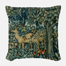 The Greenery Woven Throw Pillow