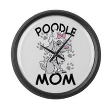Poodle Mom Large Wall Clock