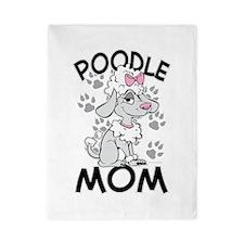 Poodle Mom Twin Duvet