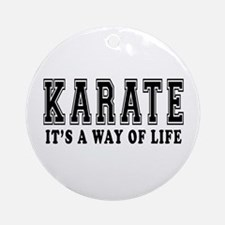 Karate Is Life Ornament (Round)