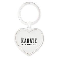 Karate Is Life Heart Keychain
