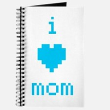i heart mom (blue) Journal