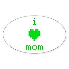 i heart mom (green) Decal