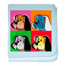 Pop Art Dog baby blanket
