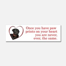Lab Paw Prints Car Magnet 10 x 3
