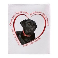 Lab Paw Prints Throw Blanket