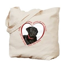 Lab Paw Prints Tote Bag
