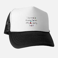 i survived nursing WORDS Trucker Hat