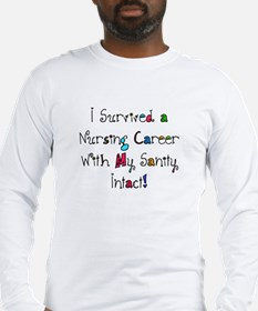 i survived nursing WORDS Long Sleeve T-Shirt