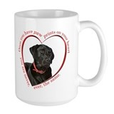 Black lab Large Mugs (15 oz)