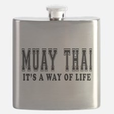 Muay Thai Is Life Flask