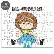 Lil Cupcake Girl Blue Puzzle